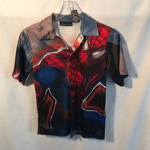 Boys Spider-Man button down shirt size 8/10